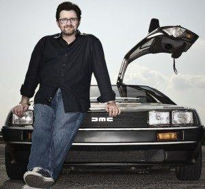 Ernest_Cline_DeLorean-300x276